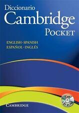 Diccionario Bilingue Cambridge Spanish-English Paperback with CD-ROM Pocket...
