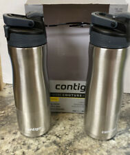 Contigo Couture 2-Pack Vacuum Insulated Water Bottles 20 Oz Silver