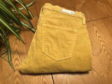 WOMENS AG ADRIANO GOLDSCHMIED YELLOW CORDUROY STEVIE ANKLE JEANS 25 X 28 NWOT