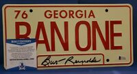 "BURT REYNOLDS SIGNED ""Smokey and the Bandit"" 6x12 License Plate (Beckett COA)"