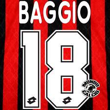 BAGGIO PERSONALIZZAZIONE MILAN HOME NOME E NUMERO KIT SET NAME 1995-96