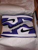 Nike Air Jordan 1 Retro Low Court Purple White 553558-500 Men's Size 11.5