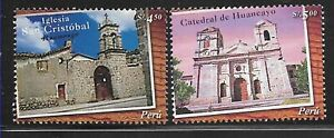 #1854 PERU 2005 ARCHITECTURE CHURCH YV 1477-8 MNH