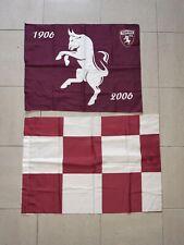 BANDIERA TORINO FC drapeau flag no ultras GRANATA TORO anni 90 curva Maratona
