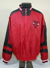 Vtg Chicago Bulls Jacket Reversible Sz L Windbreaker 90's NBA Jordan Pippen
