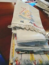Large collection of 14 Vintage to Now kitchen towels