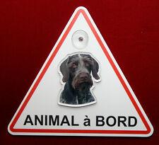 plaque animal à bord à ventouse chien drahthaar 1 dog hund perro
