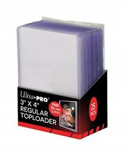25 Pack Holders Trading Card Hard Plastic Baseball Topload Sleeves Good Cards