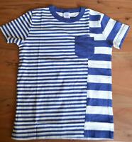 NEW RRP £30 Mini Boden Blue and white stripe print T-shirt               (U10-2)