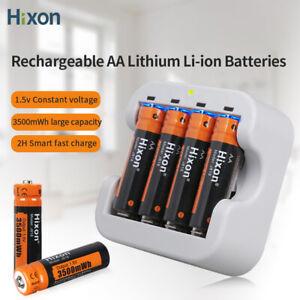 1.5v aa batterie ricaricabili litio con caricabatterie 3500mWh agli ioni Hixon