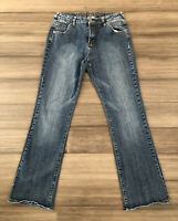 ETHYL JEANS Women's Classic Cotton Blend Denim Bootcut Blue Jeans-Size 8