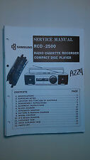 Samsung rcd-2500 service manual original repair book stereo radio cd boombox