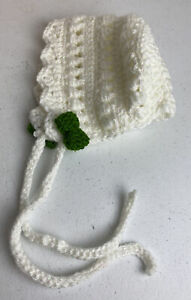 Crochet Knit Baby Girl Bonnet Hat Size 9-12 Months
