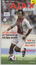 Programme / Programma Ajax Amsterdam v NEC Nijmegen 24-09-2006