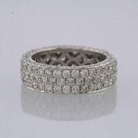 3.41 Carat Pavé Set Diamond Full Eternity Ring 18ct White Gold Size N
