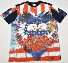 4206a1aa98e69b Akademiks T-shirt Men s Size L Flag Burst Graphic Tee Urban Streetwear N971
