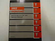1992 Pontiac Bonneville SE Service Shop Repair Manual Factory OEM Book Used