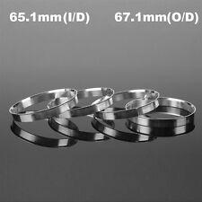 4Pcs Aluminum Wheel Hub Centric Rings Spigot Spacer Set 65.1mm ID to 67.1mm OD