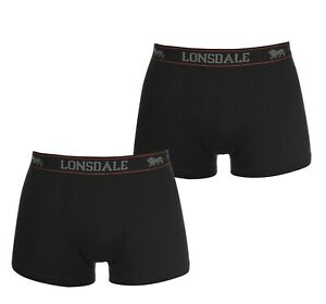 LONSDALE Men's Cotton Stretch Trunks Boxer 2-Pack - Size S to 4XL OZ STOCK!