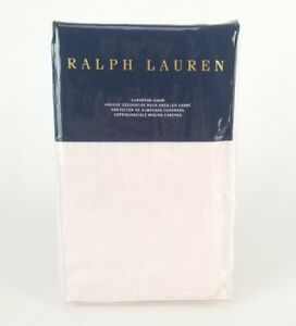 Ralph Lauren Olivia Clotilde 1 Euro Sham 26X26'' Blush New Light Pink Linen