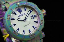 Invicta 48mm Sea Base Iridescent Automatic Sandblasted Lim Ed. White Dial Watch