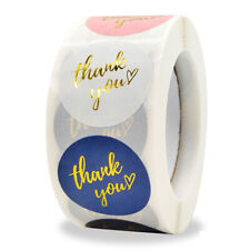 500pcs Round Labels Thank You Kraft Paper Packaging Sticker for Candy Gift BBW
