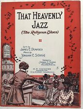 1919 BLACK CONGREGATION sheet music THAT HEAVENLY JAZZ The Religious Blues
