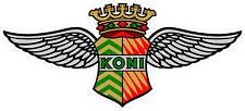 "#4227 (2) 2.0"" Koni Shocks Sponsor Vintage Repro Decal Sticker Laminated"