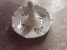 Vintage Ceramic  pottery porcelain  Ring Holder Dish Floral 7CM DIAM X 6CM TALL