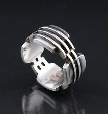 GEORG JENSEN Sterling SGJ Men Ring # 462. Designed by Søren Georg Jensen. NEW!