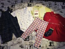 Vtg Gymboree Mad About Plaid leggings top dress overalls socks hair sweater 12-1