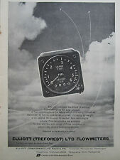 7/1962 PUB ELLIOTT TREFOREST INDICATOR FLOWMETER FUEL AIRCRAFT AVION ORIGINAL AD