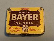 Vintage medicine tin -  Bayer ASPIRIN 5 GRS EACH 12 TABLETS NO RESERVE!