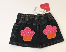 NWT Gymboree Cupcake Cutie 18-24 Months Denim Applique Pocket Skirt
