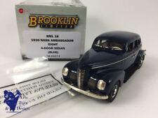 1/43 BROOKLIN BML 18 NASH AMBASSADOR EIGHT 4 DOOR SEDAN 1939 BLUE