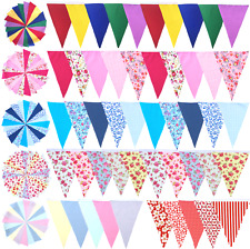 Fabric Bunting Wedding Birthday Garden Party Christening Handmade 10ft 20ft