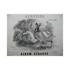 STRAUSS Léontine Polka Amazone Piano ca1850 partition sheet music score