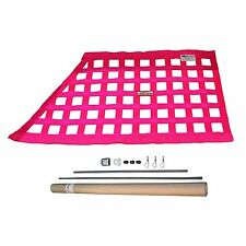 RACERDIRECT.NET SFI 27.1 OBLONG RACING SAFETY WINDOW NET KIT WITH HARDWARE PINK
