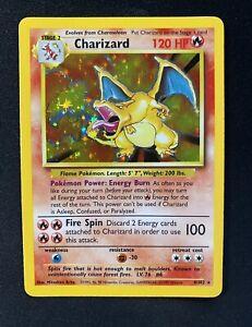 Pokemon Card Charizard 1999 Holo Base Set 4/102 Rare WOTC- MINT CONDITION