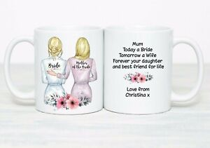 Personalised mother of the bride Wedding gift bride mum daughter wedding day mom
