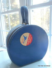 1950s VINTAGE NORTH CENTRAL AIRLINES STEWARDESS CARRY ON HAT SUITCASE BAG
