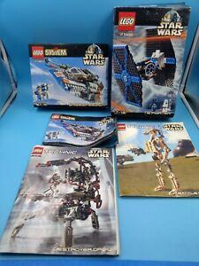 lot boites notices lego star wars technic 7130 7146 8001 8002