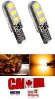 2x T10 194 168 Amber Yellow LED 6SMD Car CANBUS ERROR FREE Silicone Light Bulbs