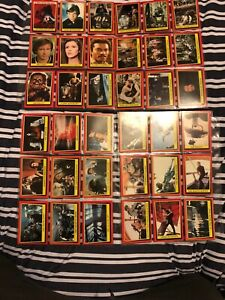 Star Wars Return Of The Jedi Vintage Topps Cards Series 1