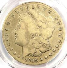 1893-CC Morgan Silver Dollar $1 - PCGS VG8 - Rare Certified Carson City Coin!