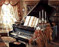Painting by Numbers kit Grand Piano Living Room Sitting Room Warm Home MS7024