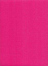 "ZWEIGART 8 Count (BINCA) AIDA ""Rosa Shocking"" cross stitch tessuto 49 x 57cms"