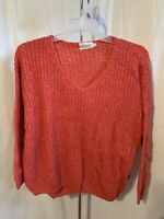 Dreamers Women's Size XL Red V-Neck Pullover High Low 3/4 Sleeve Sweater NWT