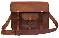Men's Genuine Handmade Vintage Leather Messenger Briefcase Satchel Bag Purse