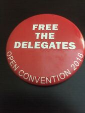 2016 Republican National Convention FREE THE DELEGATES Anti-Donald Trump Button